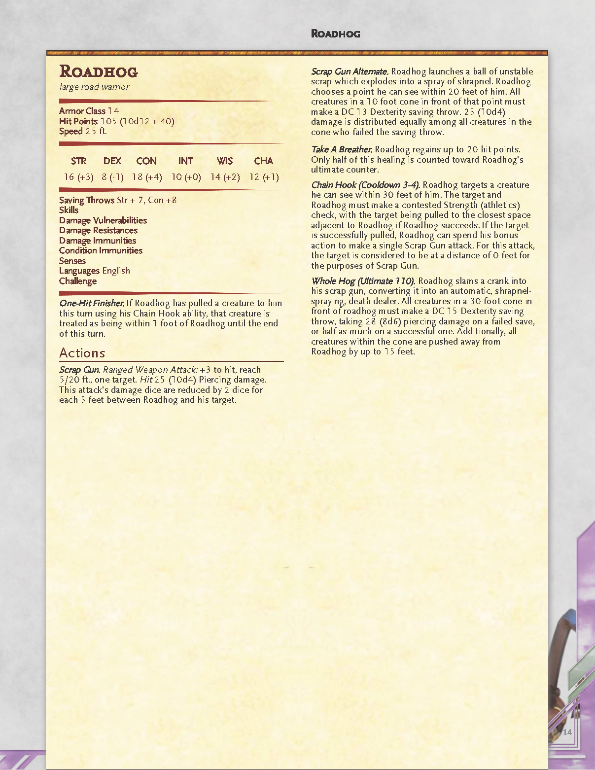 Overwatch in Dungeons and Dragons 5e - RPG Guide